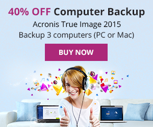 Acronis 40% Off - Cyber Monday Black Friday Deal