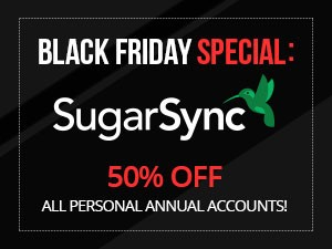 50% Off SugarSync - Black Friday Cyber Monday