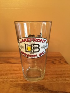 Lakefront Brewery Pint Glass