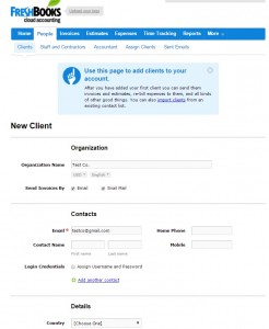 Managing Contacts in FreshBooks