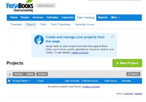 Project Management in FreshBooks