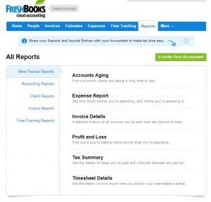 FreshBooks Reports