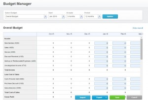 Creating a Budget with Xero