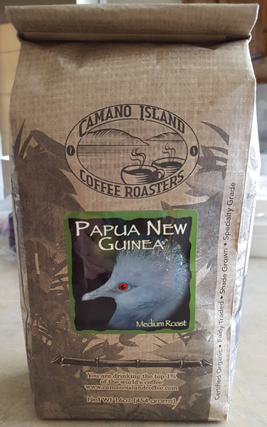 Camano Island Papua New Guinea Coffee