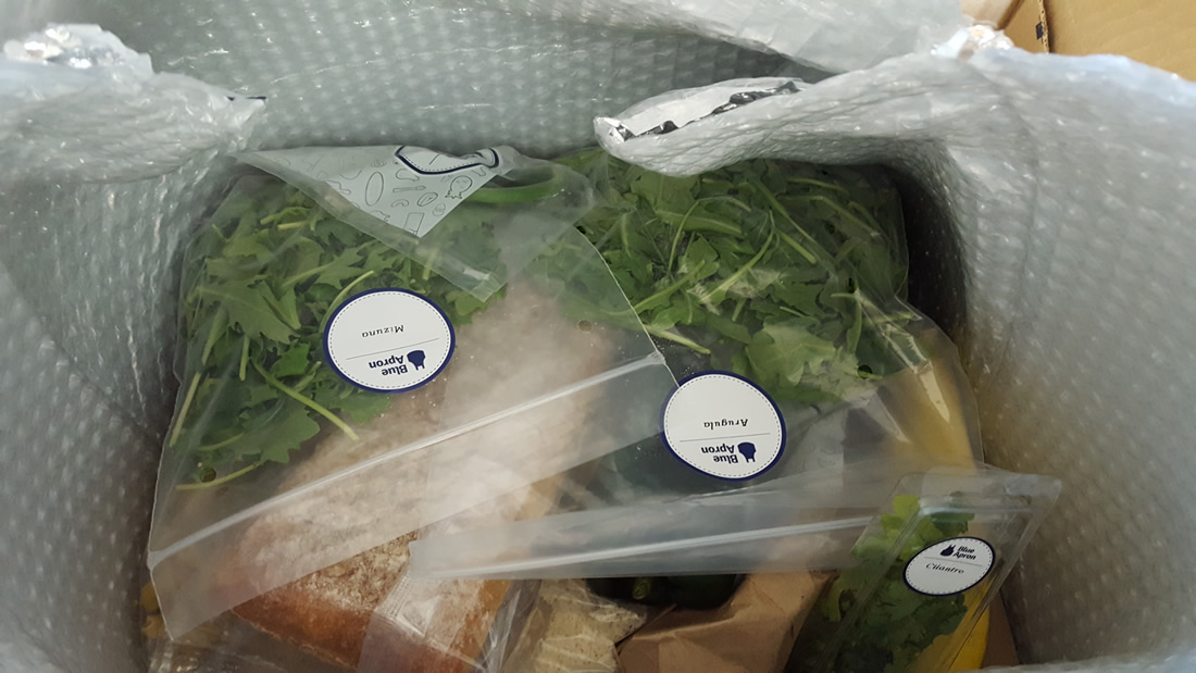 Blue Apron Ingredients in box