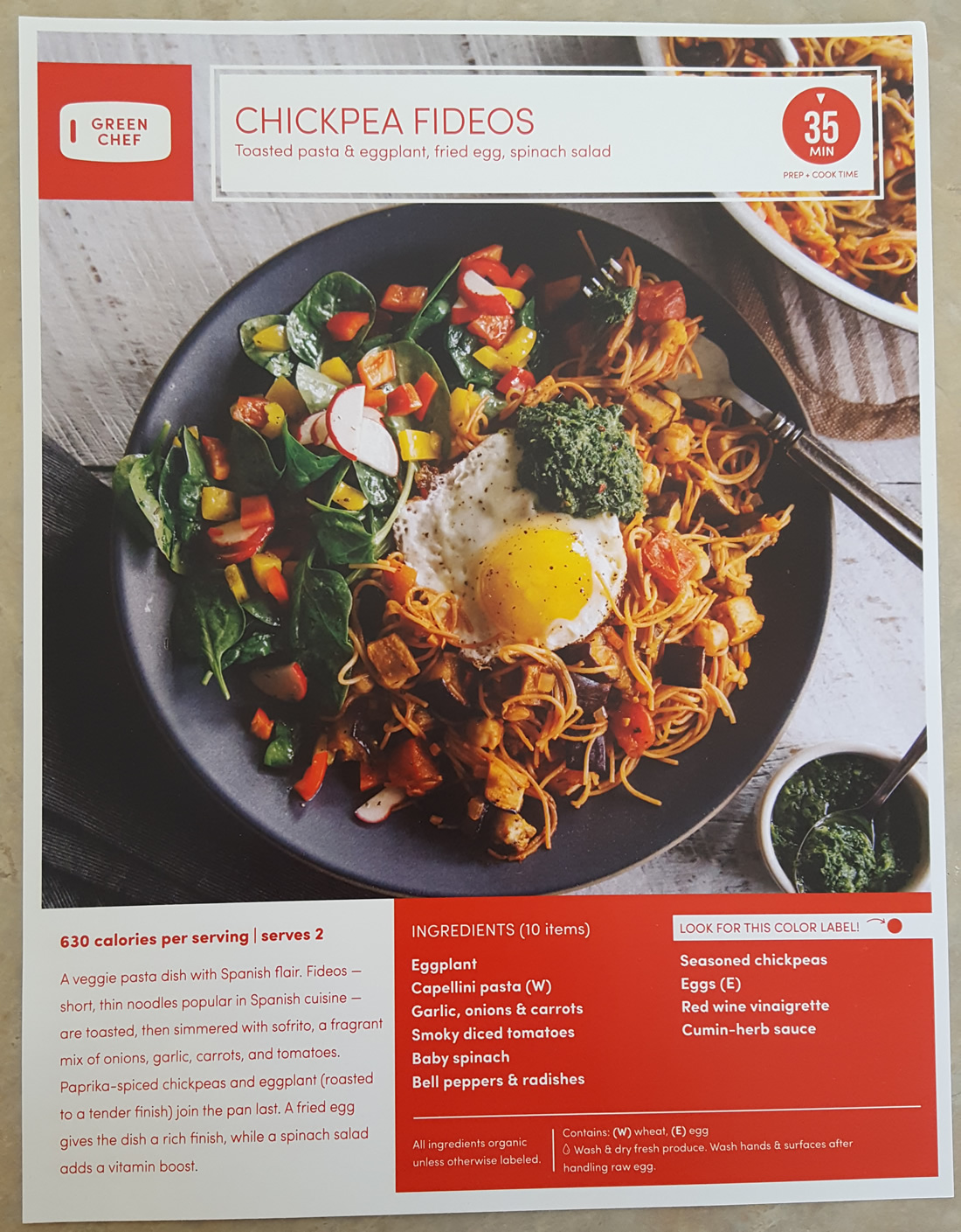 I tried green chefs food and recipes heres my thoughts revuezzle green chef fideos recipe front forumfinder Image collections