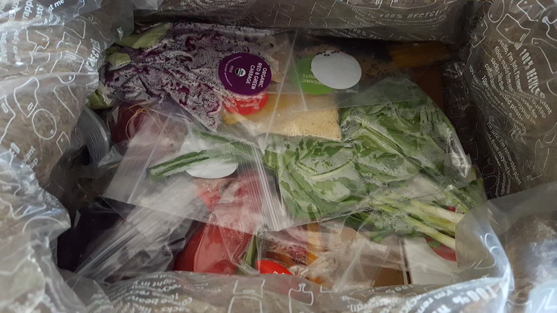 Green Chef - Ingredients in box