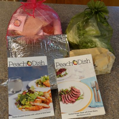 PeachDish Meal Kit Packaging