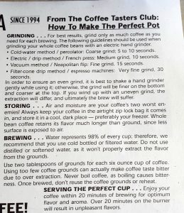 Clubs of America Brewing Instructions