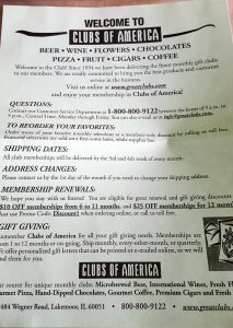 Clubs of America News Letter