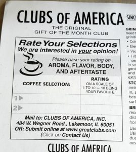 Clubs of America Rating
