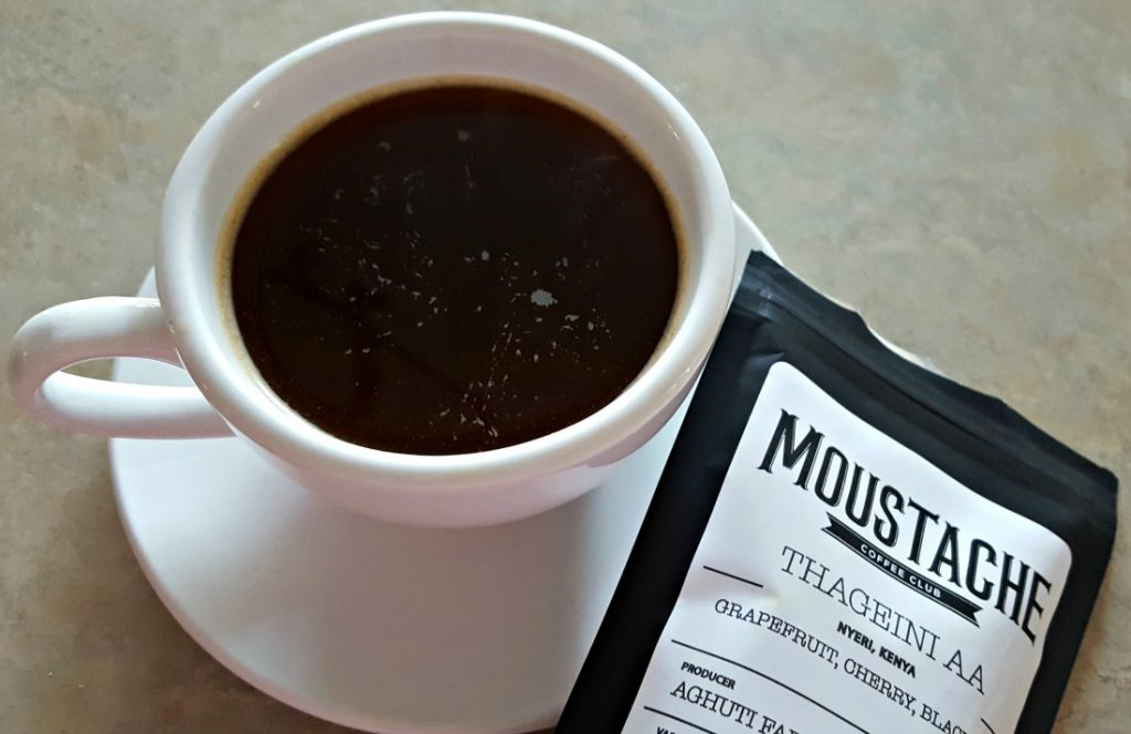 Moustache Coffee Club Coffee Brewed