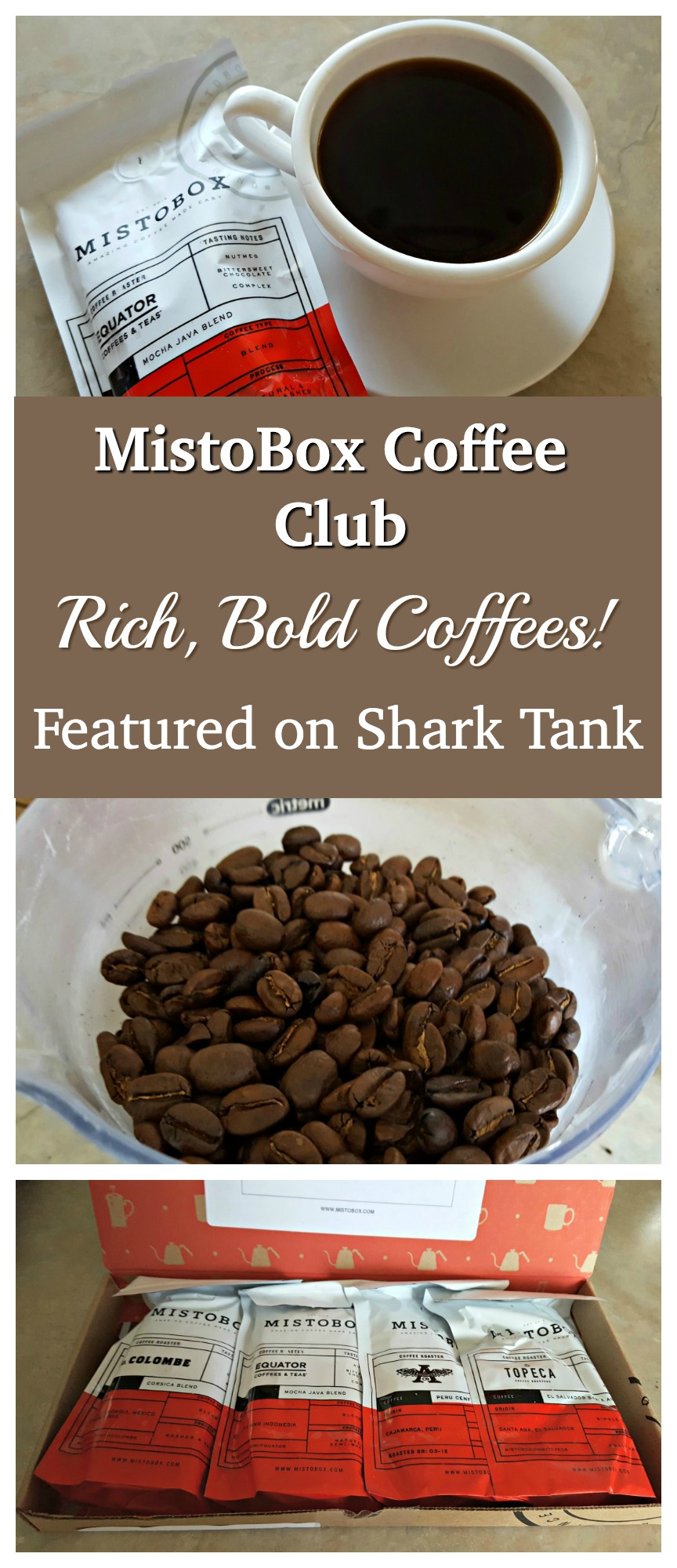 MistoBox is the Coffee Club featured on Shark Tank - We absolutely loved their coffees!!