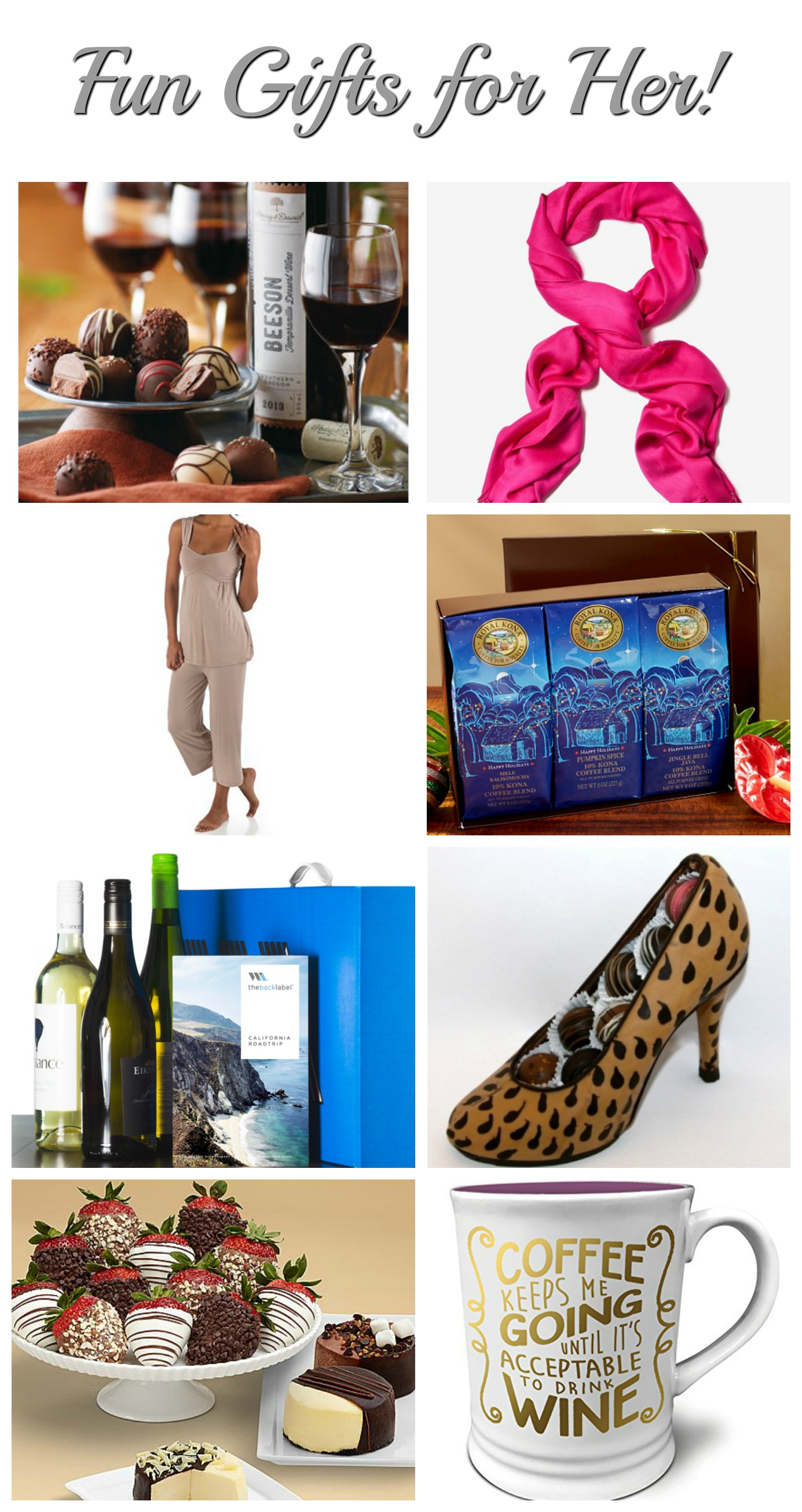 Great Gift Ideas for special woman on your gift list! Fun Gifts for Her Guide! #gifts