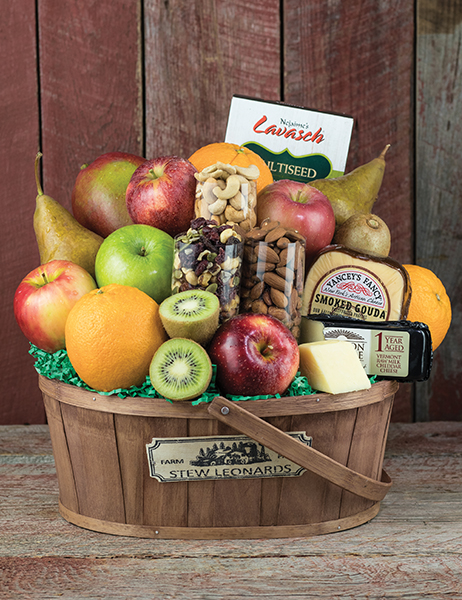 Stew Leonards Gifts – Fruit, Cheese & Nuts Gift Basket