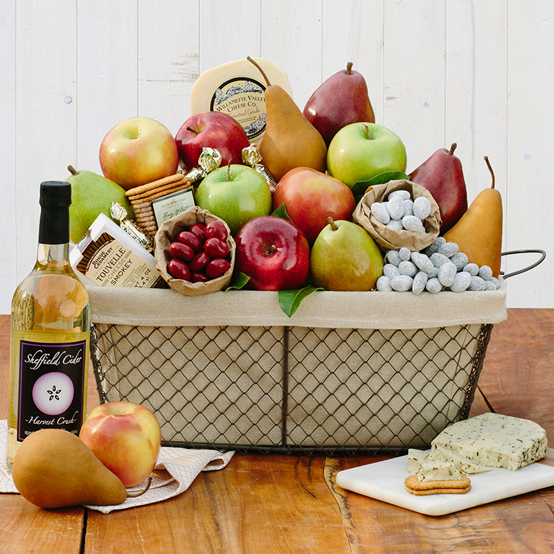 The Fruit Company – Fruit, Cheese & Cider Gift Basket