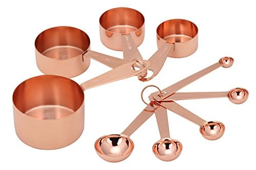 Copper Measuring Cups & Spoons