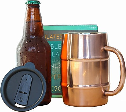Double Wall Stainless Steel Copper Plated Beer Mug
