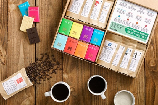 Bean Box Deluxe Coffee and Chocolate Sampler