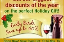 Early Birds Save Even More with Gold Medal Wine Club