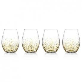 Fitz and Floyd Luster Stemless Glasses (Set of 4)