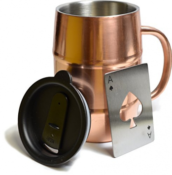 17oz Double Wall Insulated Stainless Steel Copper Plated Beer Mug