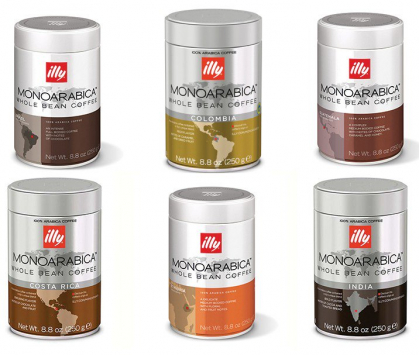 Illy Monoarabica Sampler  Case of 6 cans